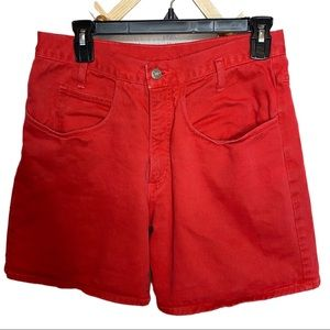 Vintage red high waisted mom shorts size Small